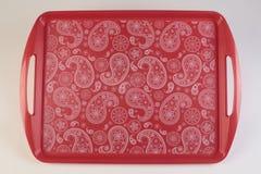 Kleurrijk plastic dienblad Royalty-vrije Stock Fotografie