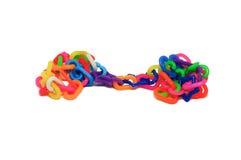 Kleurrijk plastic kettingsstuk speelgoed Stock Afbeelding