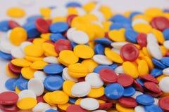 Kleurrijk plastic polymeer Royalty-vrije Stock Afbeelding