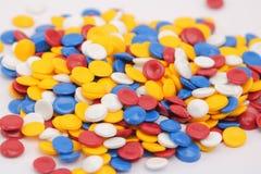 Kleurrijk plastic polymeer Royalty-vrije Stock Afbeeldingen