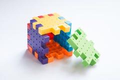 Kleurrijk plastic puzzelspel Royalty-vrije Stock Afbeelding