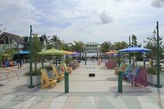 Kleurrijk Plein in lauderdale-door-de-Overzees Florida Royalty-vrije Stock Afbeeldingen