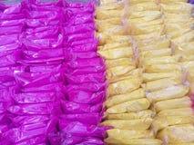 Kleurrijk poeder voor verkoop Stock Foto