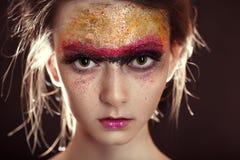 Kleurrijk polijst make-up royalty-vrije stock foto's