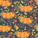 Kleurrijk pompoenen naadloos patroon Stock Foto's