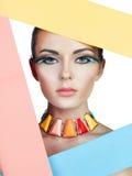 Kleurrijk portret van schoonheid Royalty-vrije Stock Foto