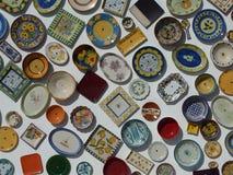 Kleurrijk Portugees aardewerk Stock Fotografie