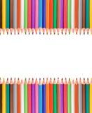 Kleurrijk potlodenframe Stock Afbeelding