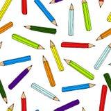 Kleurrijk potlodenpatroon Naadloze textuur met potlood doodle Stock Fotografie