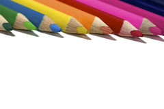 Kleurrijk potlood stock afbeeldingen