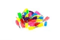 Kleurrijk potlood Stock Foto's