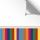 Kleurrijk potlood op document blad Royalty-vrije Stock Foto