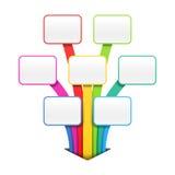 Kleurrijk presentatie of ontwerpmalplaatje Stock Afbeelding