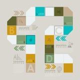 Kleurrijk raadsspel of werkschema infographic ontwerp stock illustratie