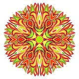 Kleurrijk radiaal ornament stock illustratie