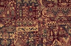 Kleurrijk retro tapijtwerk textielpatroon Royalty-vrije Stock Fotografie