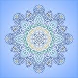 Kleurrijk rond ornament sneeuwvlok Royalty-vrije Stock Afbeeldingen