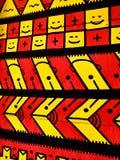 Kleurrijk rood, geel en zwart modern abstract verticaal patroon als achtergrond Stock Foto's