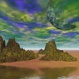 Kleurrijk ruimtelandschap Royalty-vrije Stock Afbeeldingen