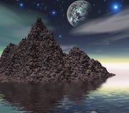 Kleurrijk ruimtelandschap Stock Fotografie