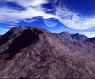 Kleurrijk ruimtelandschap Stock Foto