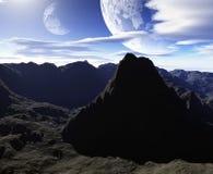 Kleurrijk ruimtelandschap Royalty-vrije Stock Fotografie
