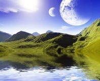 Kleurrijk ruimtelandschap Royalty-vrije Stock Afbeelding