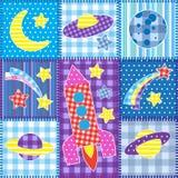 Kleurrijk Ruimtelapwerk Royalty-vrije Stock Afbeeldingen