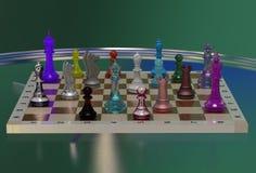 Kleurrijk schaak Stock Foto's