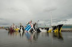 Kleurrijk schip royalty-vrije stock fotografie