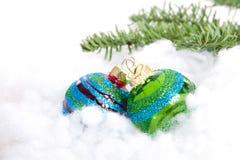 Kleurrijk schitter de ballen van Kerstmis Stock Foto's