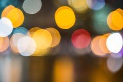 Kleurrijk schitter lichtenachtergrond Stock Afbeelding