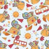 Kleurrijk schoolpatroon Stock Foto's