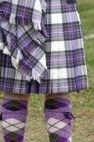 Kleurrijk Schots Geruite Schotse wollen stof Stock Foto