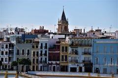 Kleurrijk Sevilla in Spanje royalty-vrije stock afbeelding