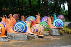Kleurrijk slakstandbeeld stock fotografie