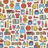 Kleurrijk speelgoedpatroon stock foto's