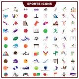 Kleurrijk Sportenpictogram Stock Afbeeldingen