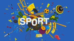 Kleurrijk sportthema Stock Foto