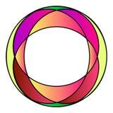 Kleurrijk stained-glass fotoframe stock illustratie