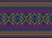 Kleurrijk stammen en Azteeks naadloos patroon royalty-vrije stock foto's