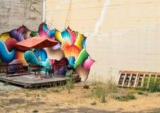 Kleurrijk stedelijk kunstwerk Royalty-vrije Stock Foto's