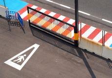 Kleurrijk stedelijk landschap Stock Foto's