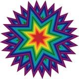 Kleurrijk sterornament royalty-vrije stock afbeelding