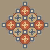 Kleurrijk stikkend uitstekend patroon op een beige achtergrond royalty-vrije illustratie