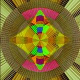 Kleurrijk stoffenontwerp met regenboogkleuren Stock Foto