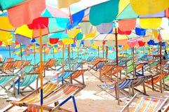Kleurrijk strand Stock Afbeeldingen