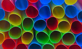 Kleurrijk stro Stock Foto