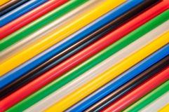 Kleurrijk stro stock fotografie