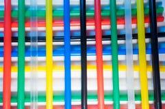 Kleurrijk stro royalty-vrije stock afbeeldingen